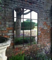 Slow Arch Vintage Rustic 12 Panelled Mirror