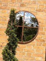 Small Circular Window Frame Mirror