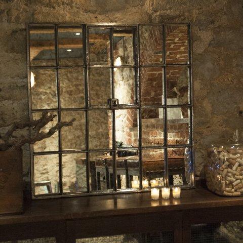 Cira 18th Century Antique Ex Square Cast Iron Window Frame