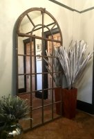 Very Tall Full Arch Vintage Window Mirror