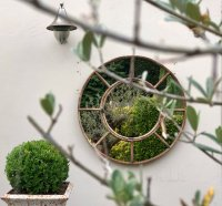 Panelled Circular Mirrors for the Home and Garden