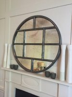 Circular Danish Iron Work Design Window Mirror