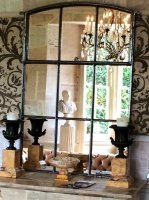 Kentish Polished Reclaimed Factory Window Mirror