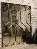 Vintage Decorative Cast Iron Window Mirrors