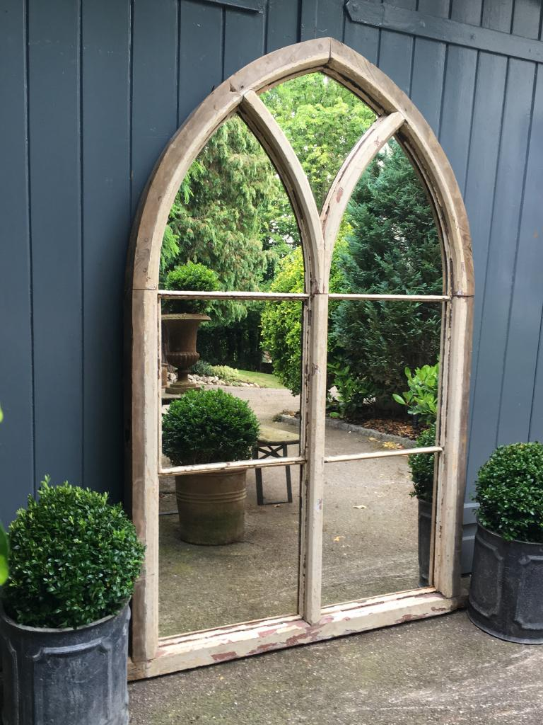 Reclaimed Chapel Arch Original Window Mirror Reclaimed