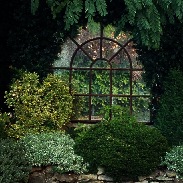 Mirror In Garden: Arch Garden Cast Iron Window Frame Mirror Rustic-arch