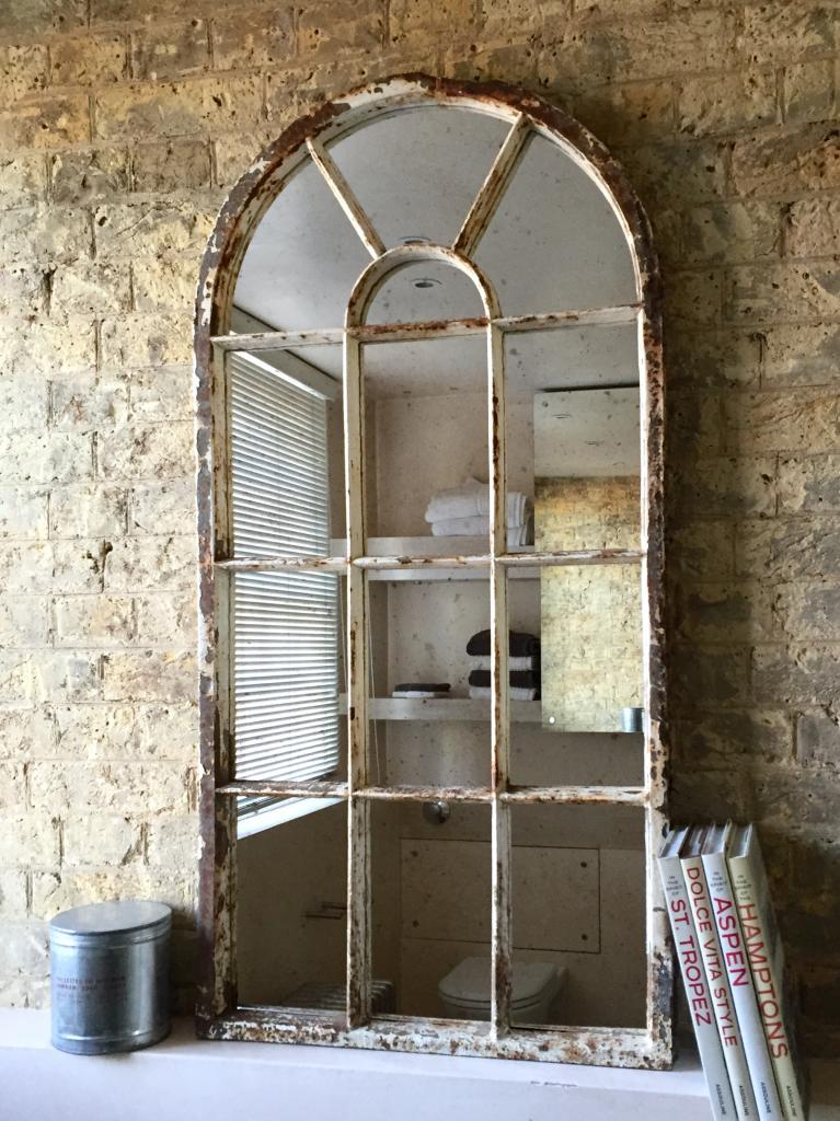 Arch vintage architectural window mirror vintage for Architecture antique