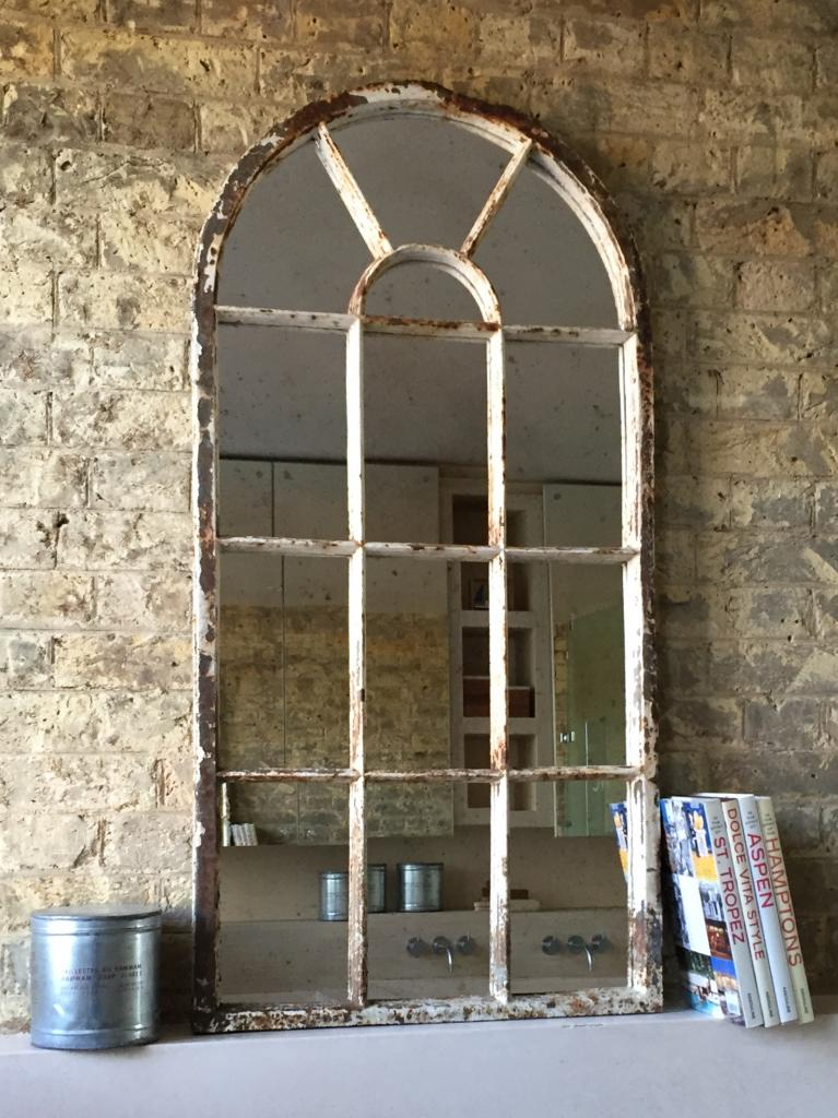 Arch Vintage Architectural Window Mirror Vintage