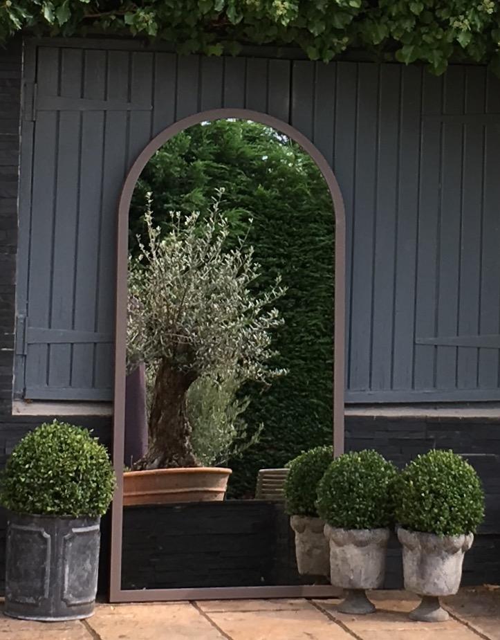 Arched One Piece Garden Mirror Metal Arched Garden Mirror