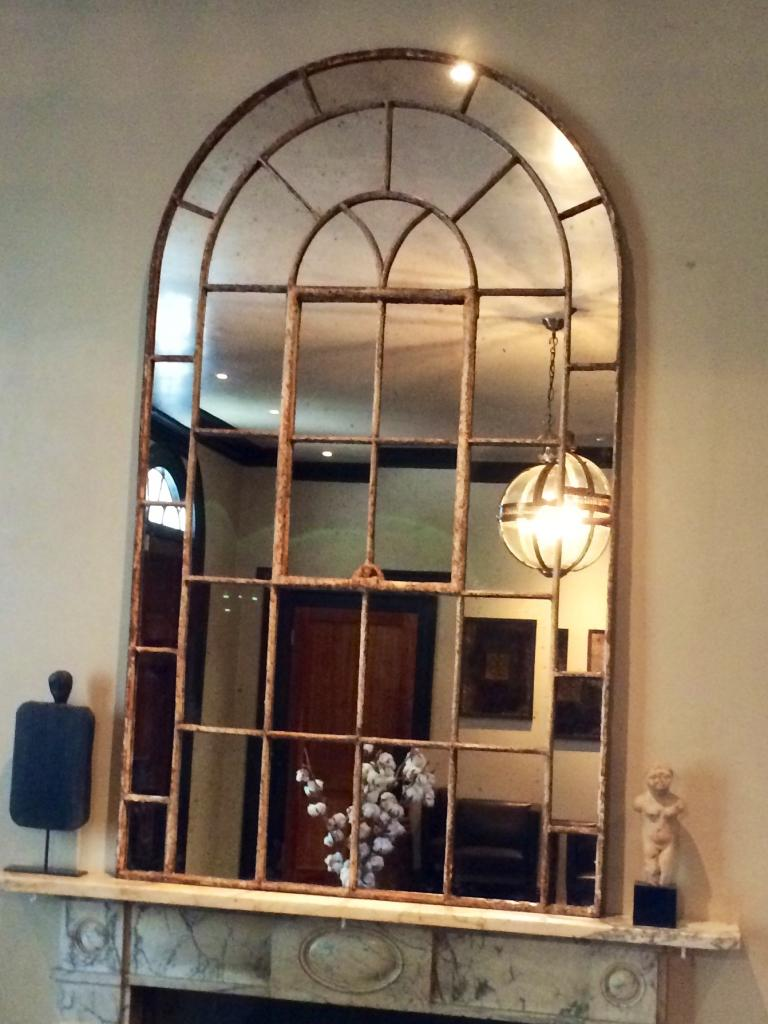 Arched Window Mirror Home Decor