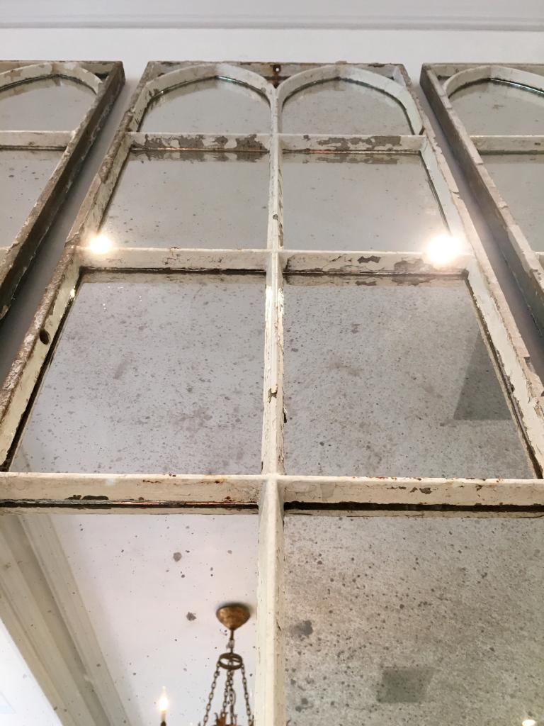 Aged White Architectural Decorative Mirror Panels ...