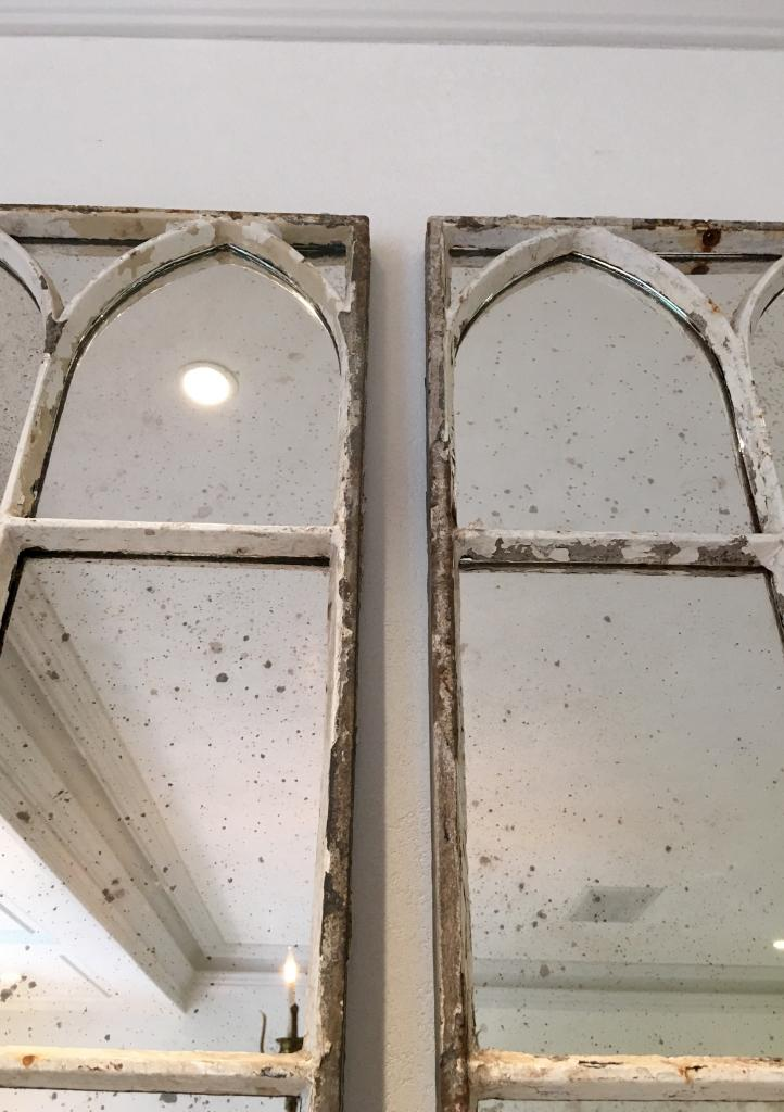 Aged White Architectural Decorative Mirror Panels