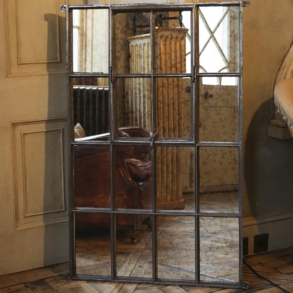Old Mill Antique Cast Iron Window Frame Mirror