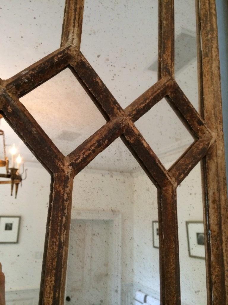 Decorative Architectural Window Mirror Panels Vintage