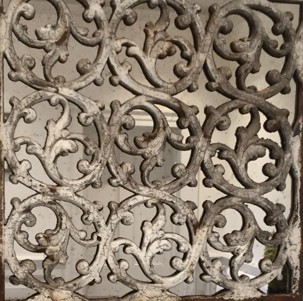 Decorative Ironwork Design Mirror Decorative Patina Tones