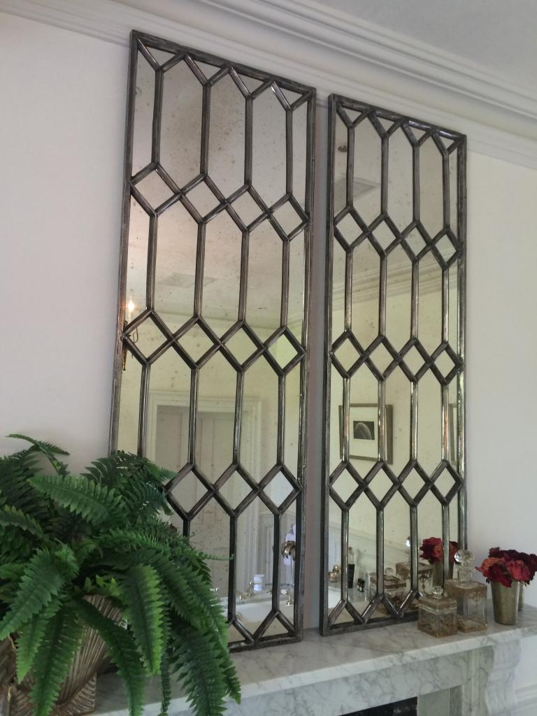 Decorative Polished Cast Iron Elegant Window Mirror Panels