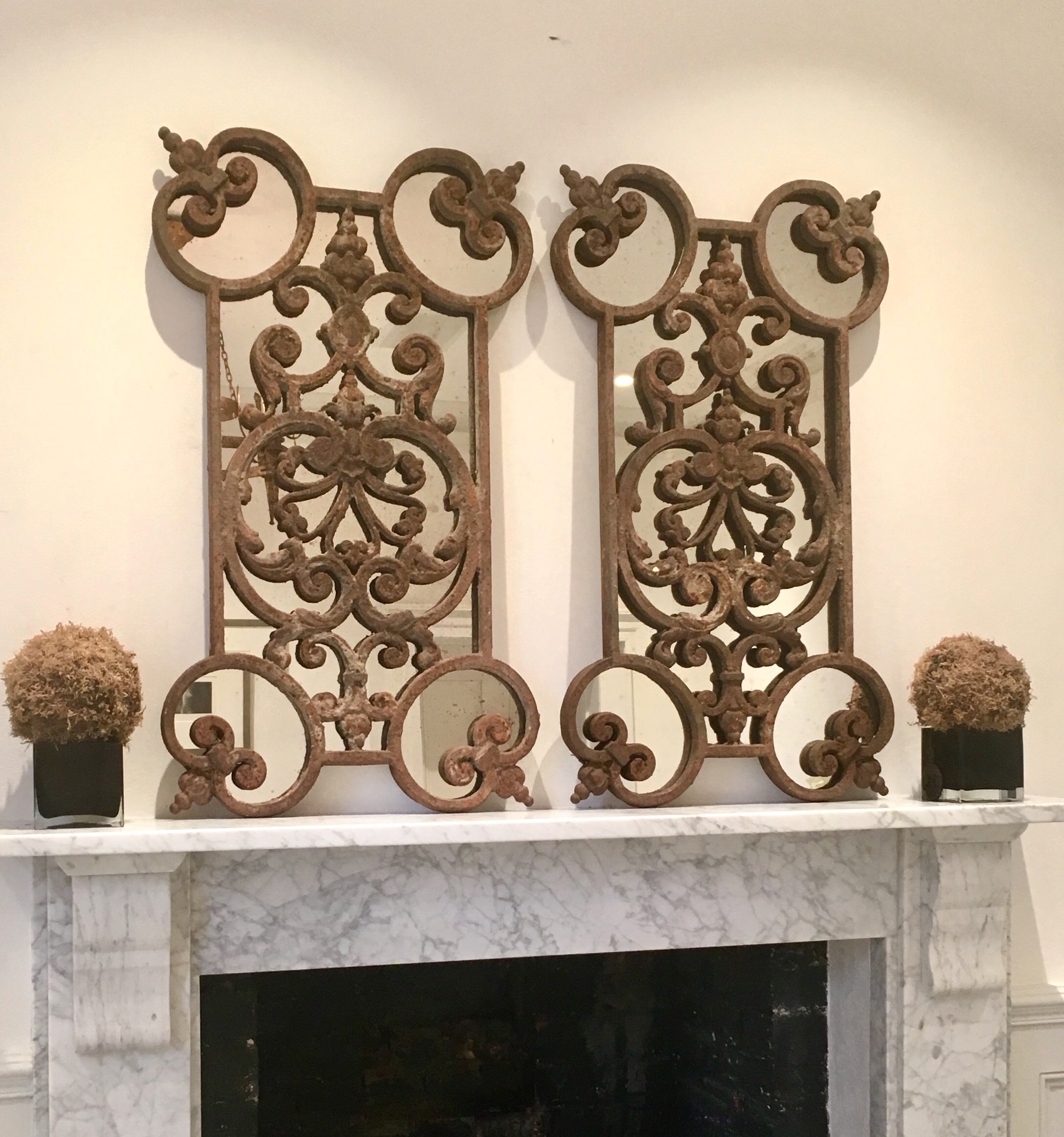 Reclaimed Decorative Rustic Ironwork Mirrors Reclaimed