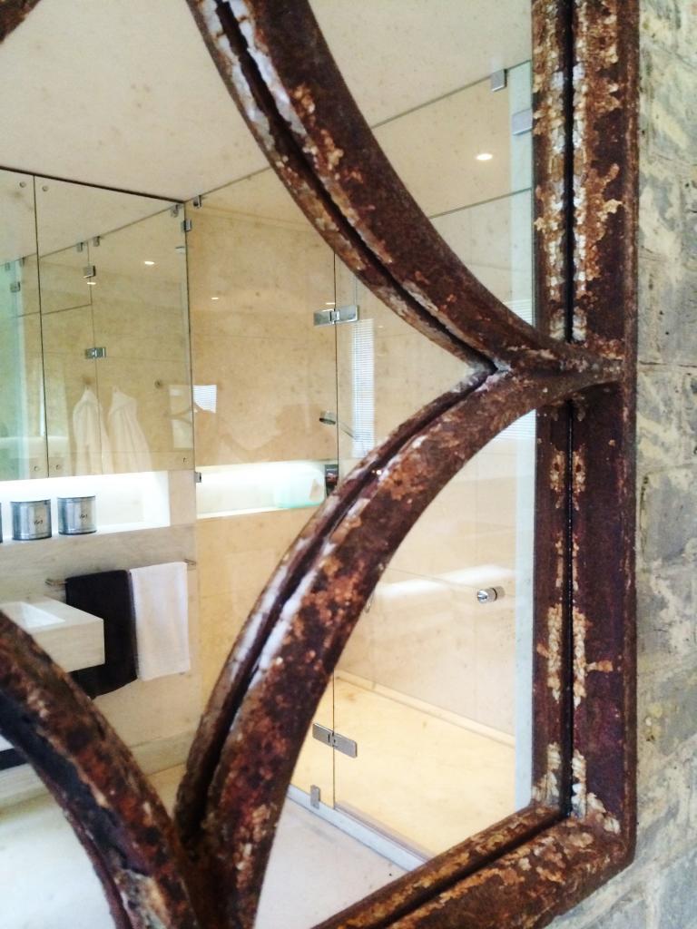 Decorative Square Rustic Window Mirror Rustic Square