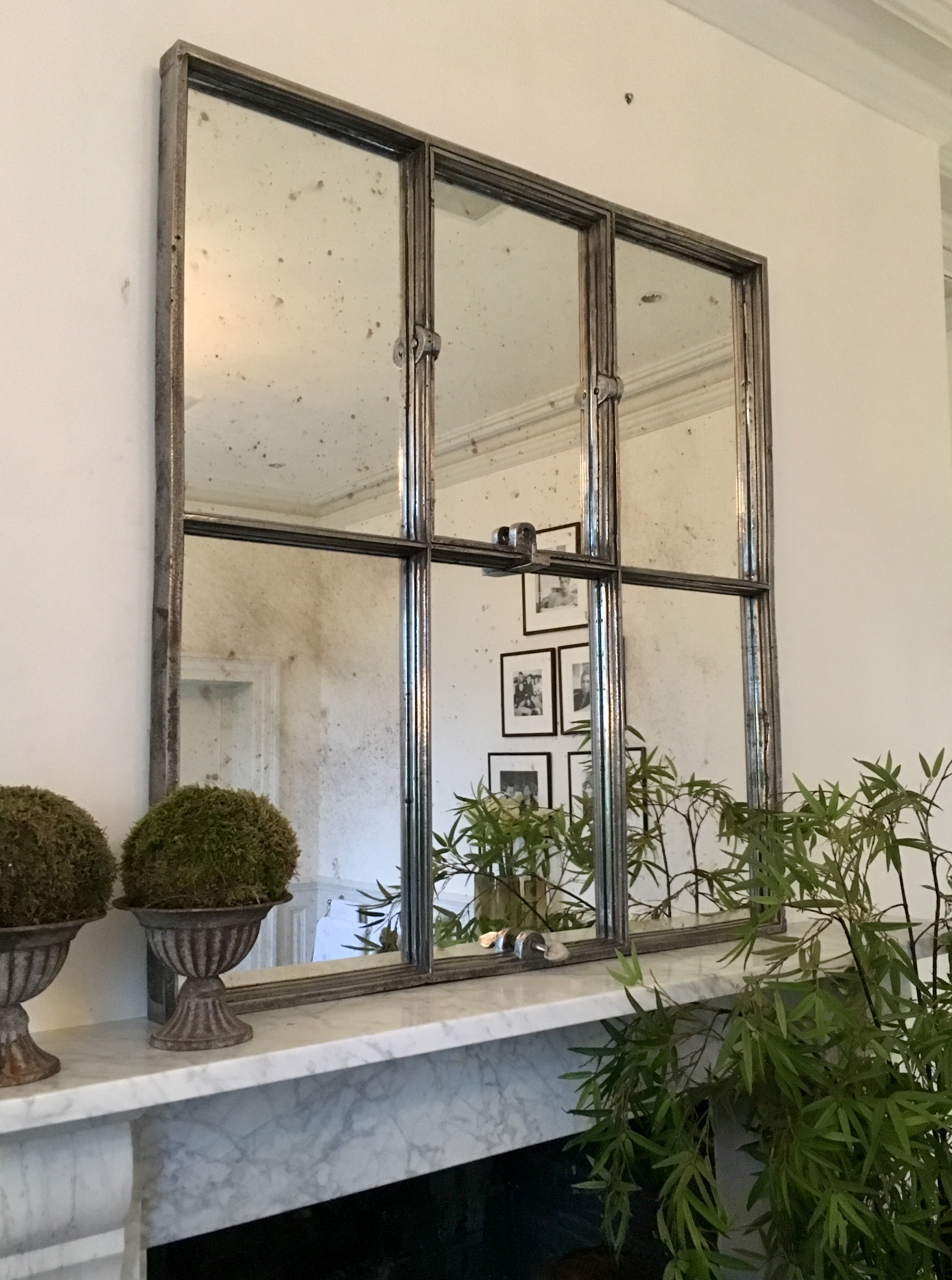 Antique Architectural Paneled Mirrors Factory Panelled