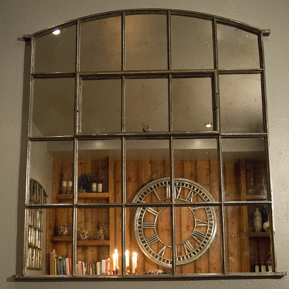 Ex Midlands Stable Holding Arch Cast Iron Window Frame Mirror Arched ...