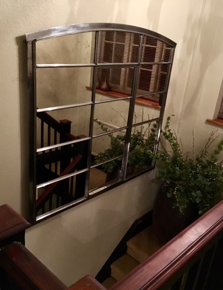 Extra Wide Hungarian Antique Window Mirror Hungarian