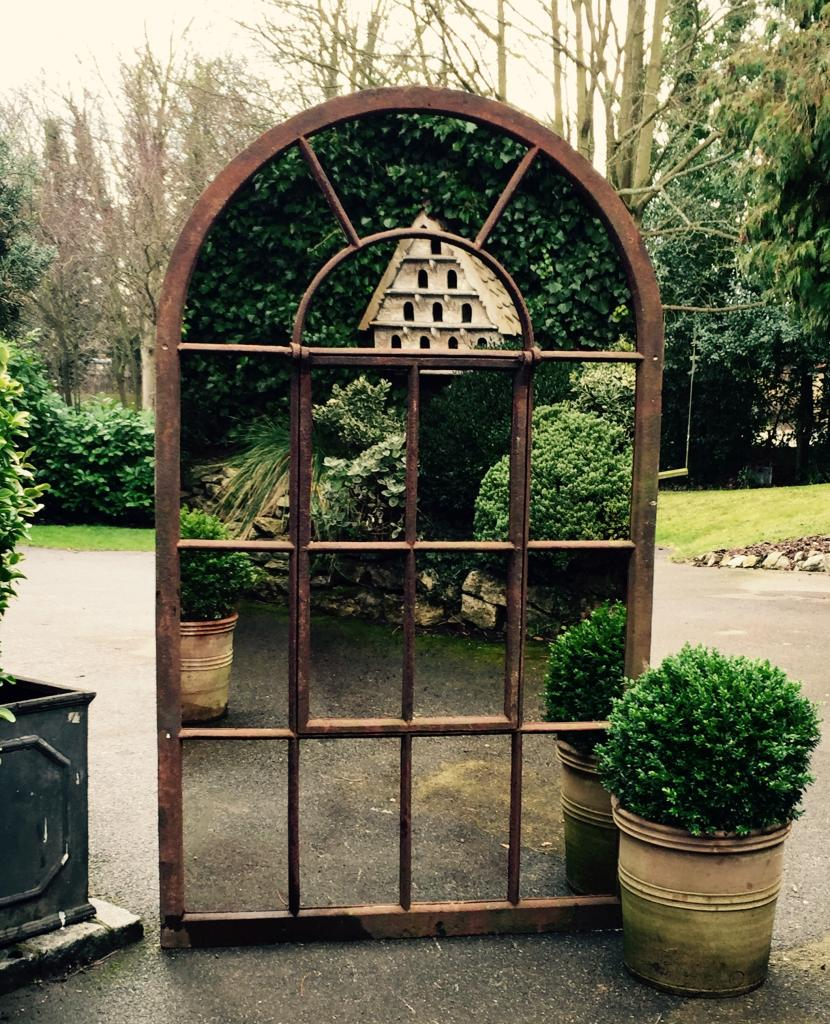 Large Full Arch Architectural Window Mirror garden mirrors TAGR