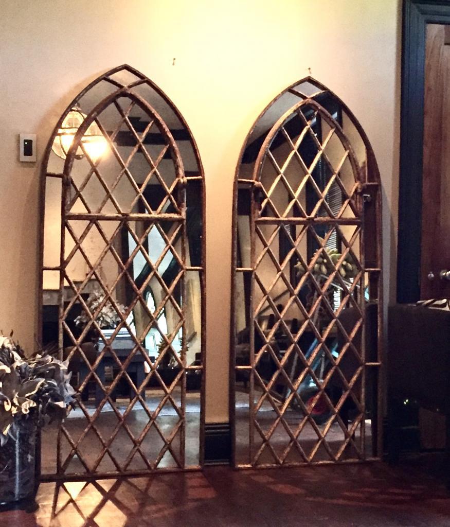 Design Window: Gothic Garden Arched Diamond Design Window Mirrors Arched
