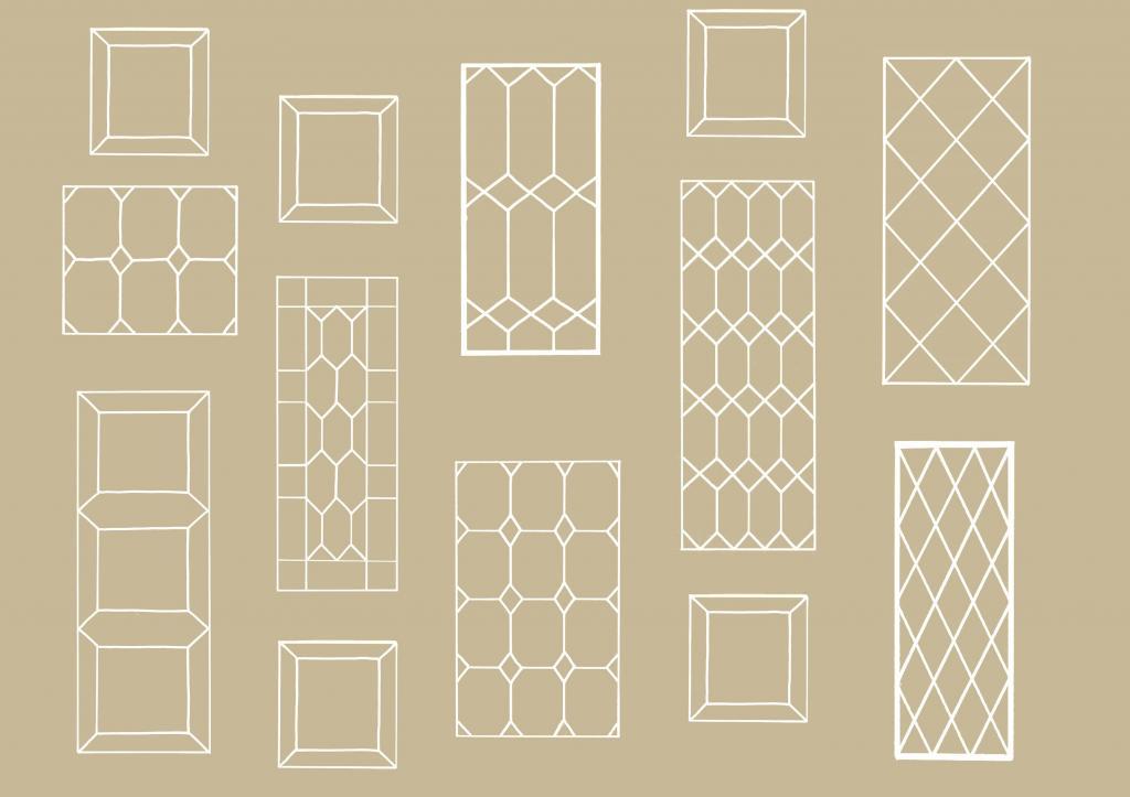 Hexagonal Design Window Frame Mirror Hx 50 Aldgate