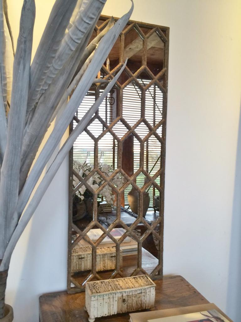 Hexagonal Design Window Frame Mirror Hx 50 Aldgate