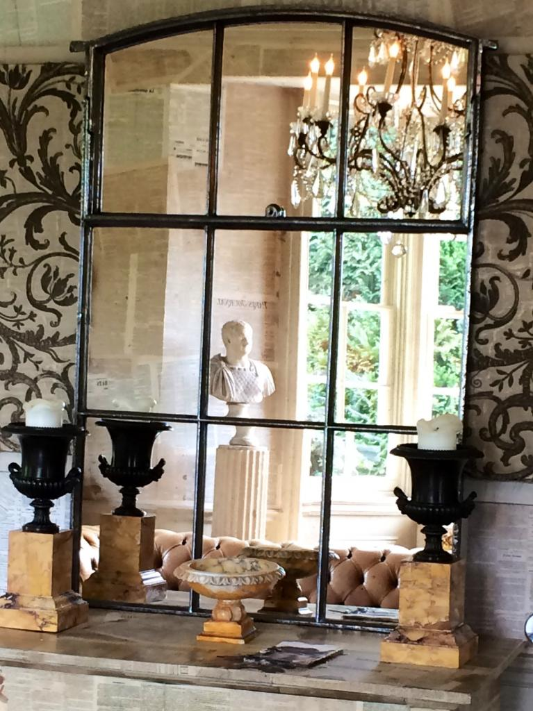 Kentish Polished Reclaimed Factory Window Mirror Reclaimed
