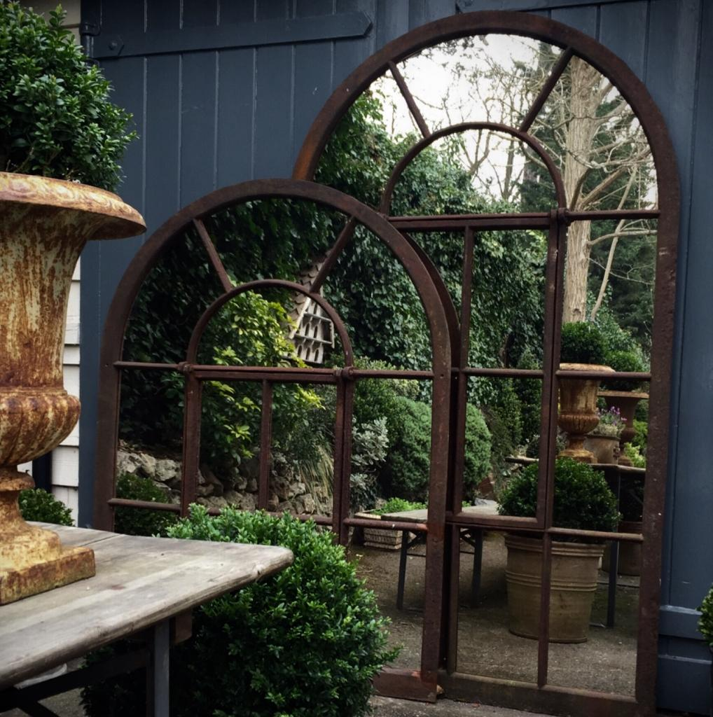 Large Full Arch Architectural Window Mirror Garden Mirrors