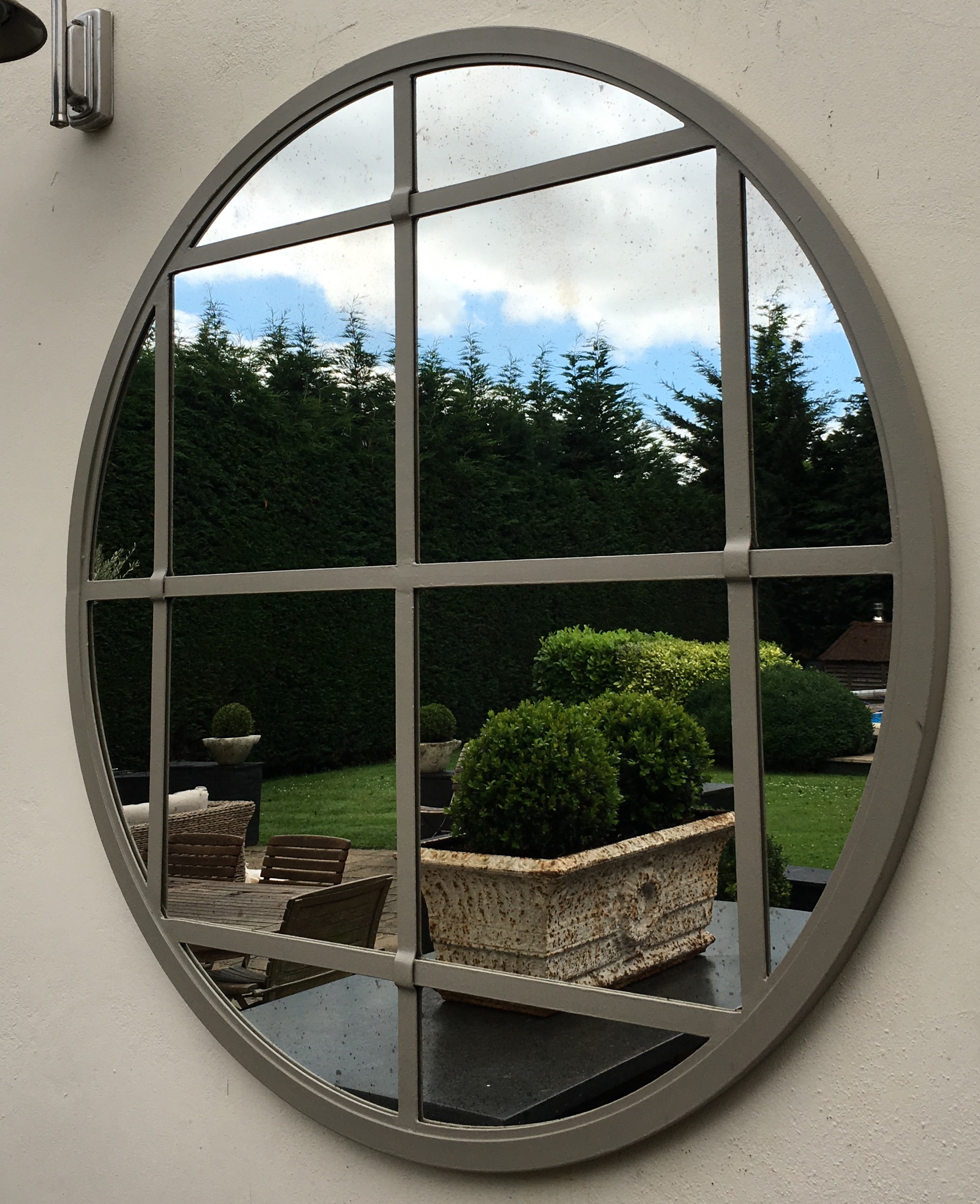 Large Bespoke Round Garden Window Mirror Large Bespoke