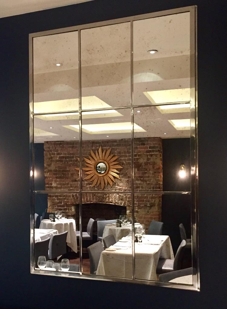 Large Interior Paneled Commissioned Iron Work Mirrors