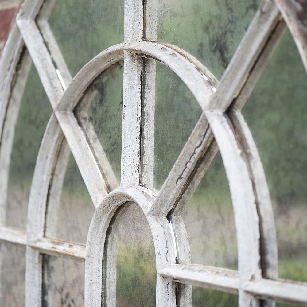 Antique Orangery Cast Iron 33 Panel Window Frame Mirror