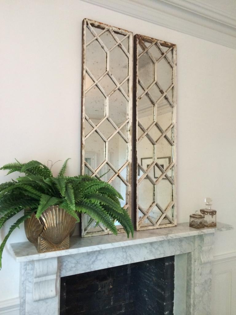 Original Decorative Architectural Window Frame Mirrors