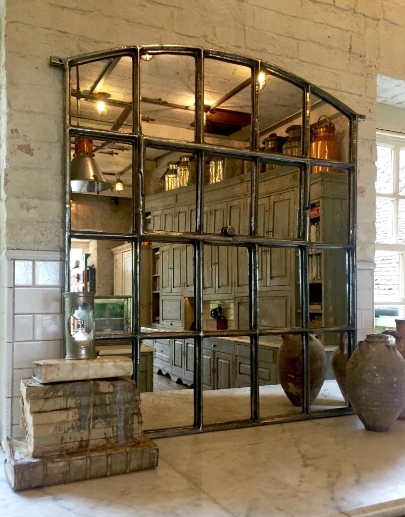 Polished Interior Slow Arch Window Mirror Polished
