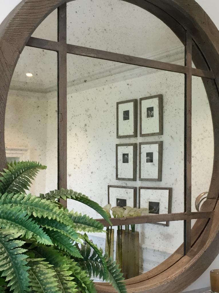 Extra Large Reclaimed Oak Circular Window Mirror Reclaimed