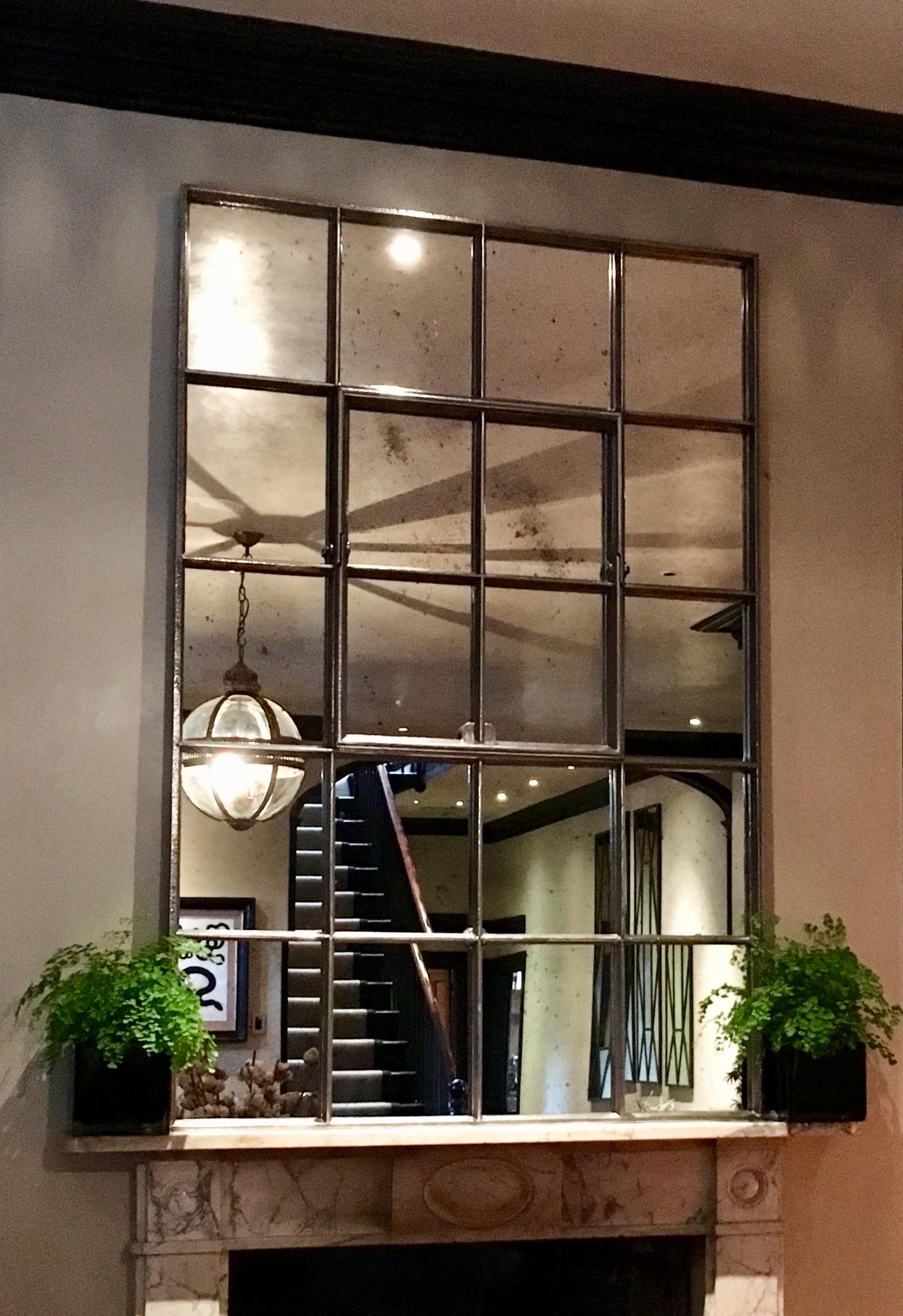 Architectural Rectangular Antique Ironwork Mirror