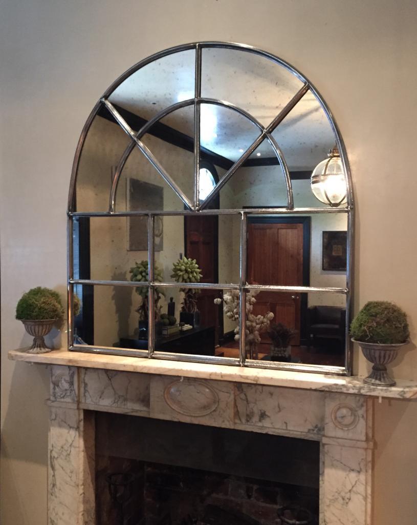 Iron Arch Architectural Antique Window Mirror Arch