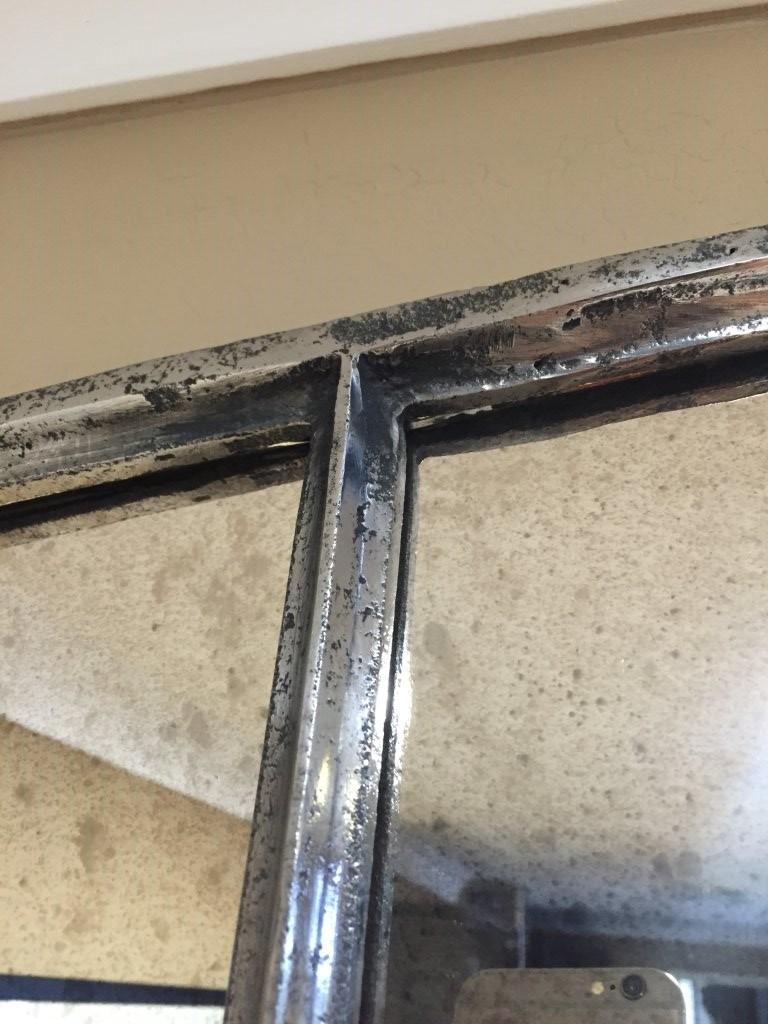 Slow Arch Industrial Polished Window Mirror Industrial