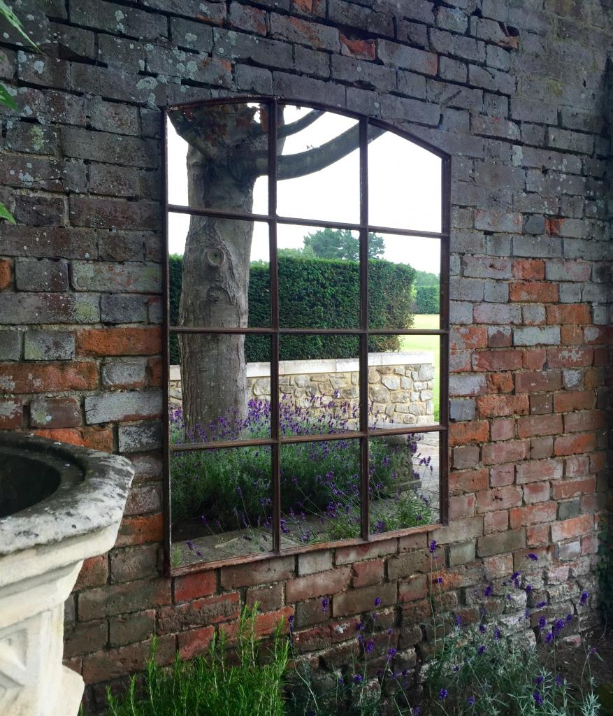 Inject Warmth Into Your Home With Reclaimed Wood Wall: Slow Arch Vintage Rustic 12 Panelled Mirror Panelled