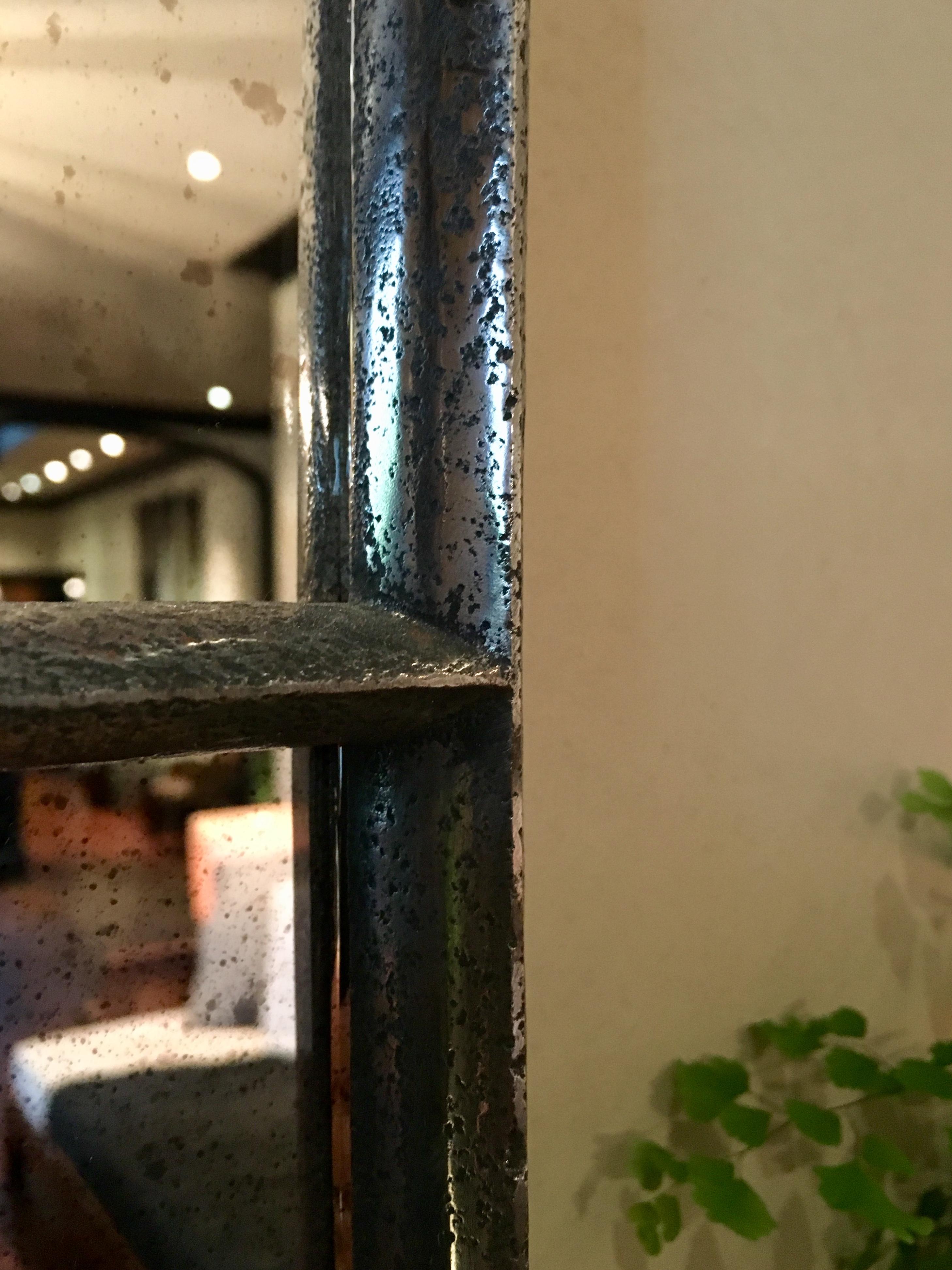 Victorian Architectural Panelled Cast Iron Window Mirror